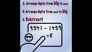 Kaprekar's Constant | #1minutemaths | Mathematigals
