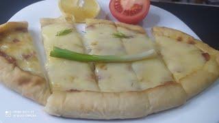 Вкусная открытая лепешка с сыром рецепт Peynirli Pide