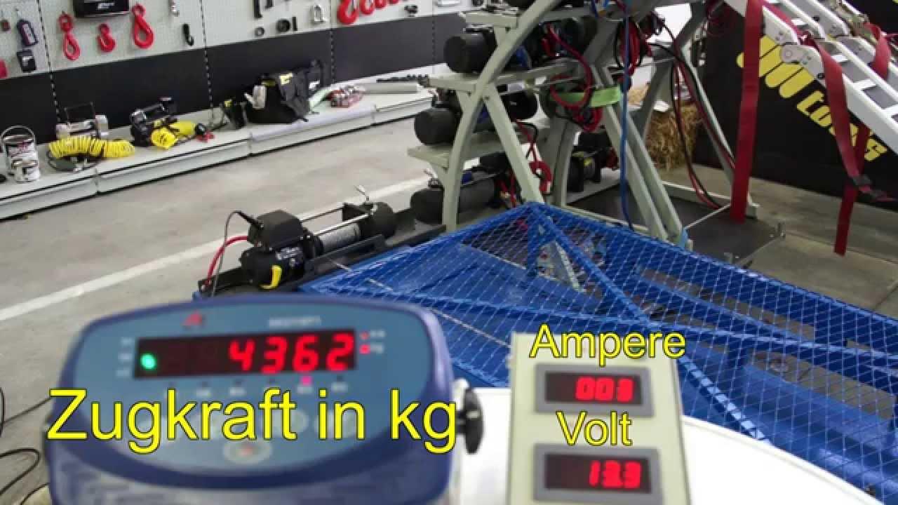 horntools Seilwindentest Alpha 9.5 HSW9500-Q-12V Seilbruch - YouTube