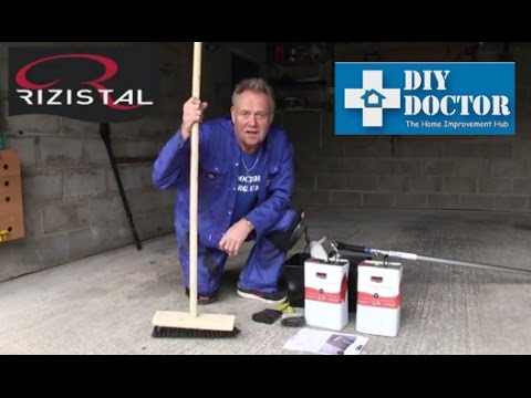 Sealing concrete floors and walls with Rizistal Concrete Sealer