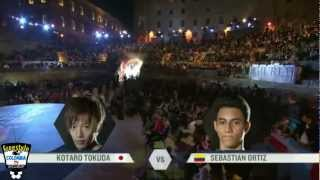 RED BULL STREET STYLE - WORLD FINAL 2012 (Cbas BOYKA Colombia vs Tokura Japón) TOP 8 #RBSS