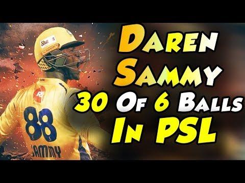Daren Sammy Smashing Sixes In An Over   Best Batting   Peshawar Zalmi Vs Karachi Kings   PSL 2018