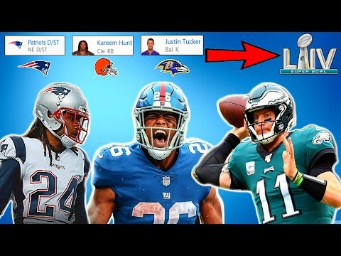 CAN MY FANTASY FOOTBALL TEAM WIN A SUPERBOWL IN MADDEN? Madden 20 Franchise Experiment