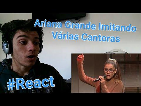 Ariana Grande Imitando Várias Cantoras (Whitney, Britney, Rihanna, Celine Dion) | Reação / Reaction