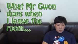 When I leave the room - My Korean Husband