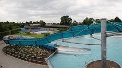 offene Riesenrutsche :: blaue Freibad-Rutsche   Städtisches Freibad Ingelheim