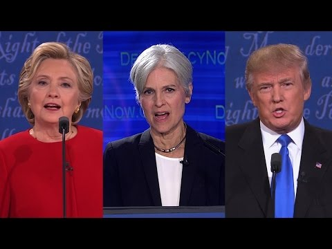"Part 1: Jill Stein ""Debates"" Clinton & Trump in Democracy Now! Special"