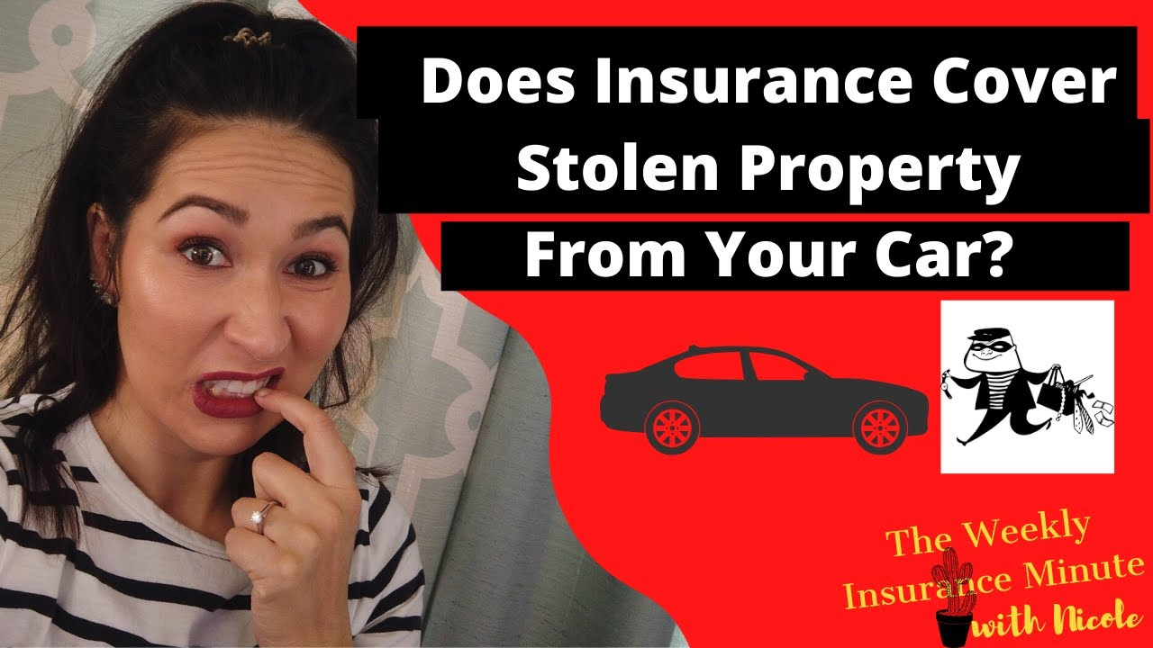 Does Insurance Cover Stolen Property From Car? - YouTube