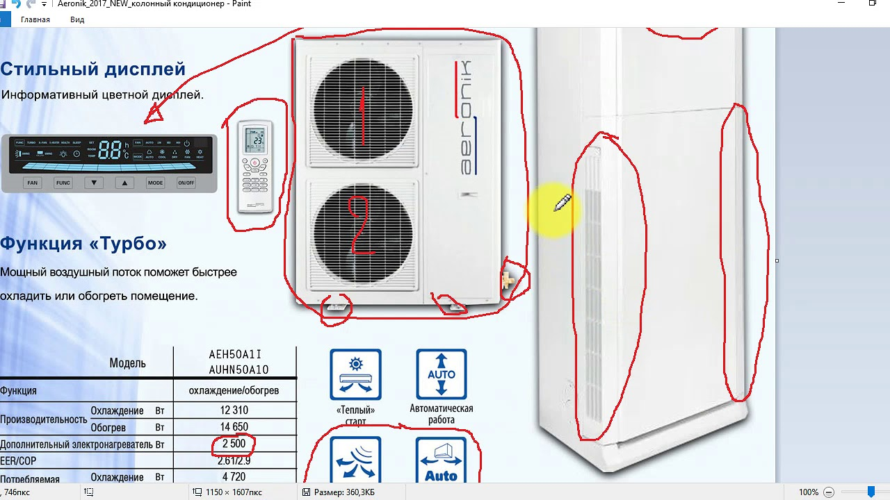 Колонный кондиционер установка домашний блок кондиционера
