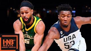USA vs Australia - Exhibition Game - 1st Half Highlights | August 22 | 2019 USA Basketball