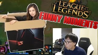 Doublelift Reacts To INSANE RYZE ULT | Pokimane UNBOXING | Tobias Fate - LoL Funny Moments #4