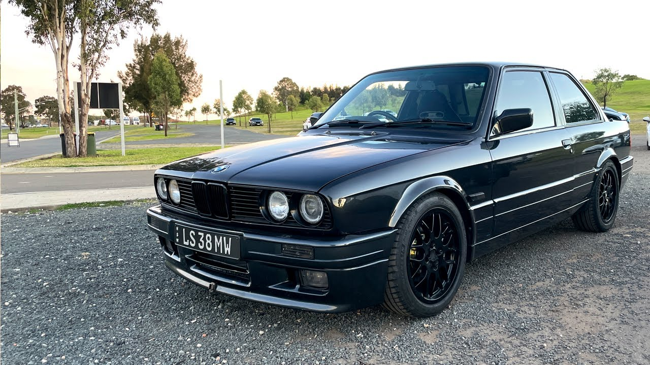 This European coupe is rear wheel drive and V8 powered // The E30 is DONE