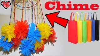 How To Make A Colorful Wind Chimes    DIY Shopping Tote Bags Recycling Home Decoration Ideas