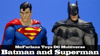 McFarlane Toys Batman and Superman DC Multiverse Action Figure Review