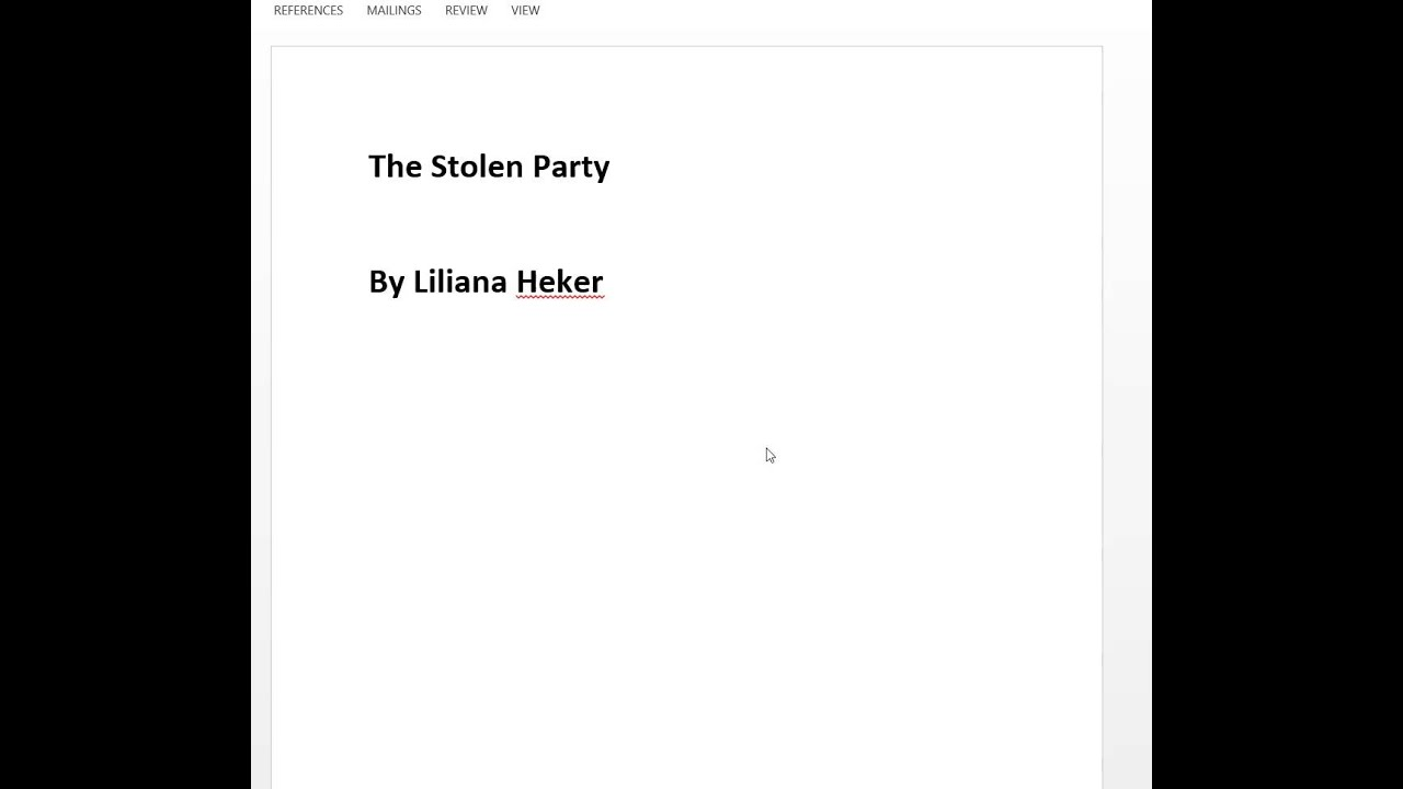 the stolen party by liliana heker