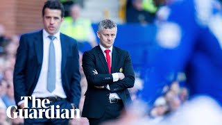 Ole Gunnar Solskjær apologises to Man Utd fans as Marco Silva celebrates Everton's 4-0 win