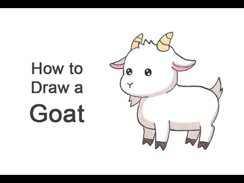 How To Draw A Goat (Cartoon)