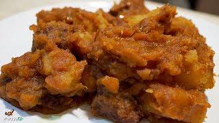 456 - Spezzatino con patate..e la testa ci infilate! (secondo di carne tipico facile e gustoso)