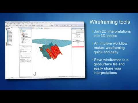 3D Geological Modelling: Digitizing and Wireframing in Oasis montaj and Target 8.1