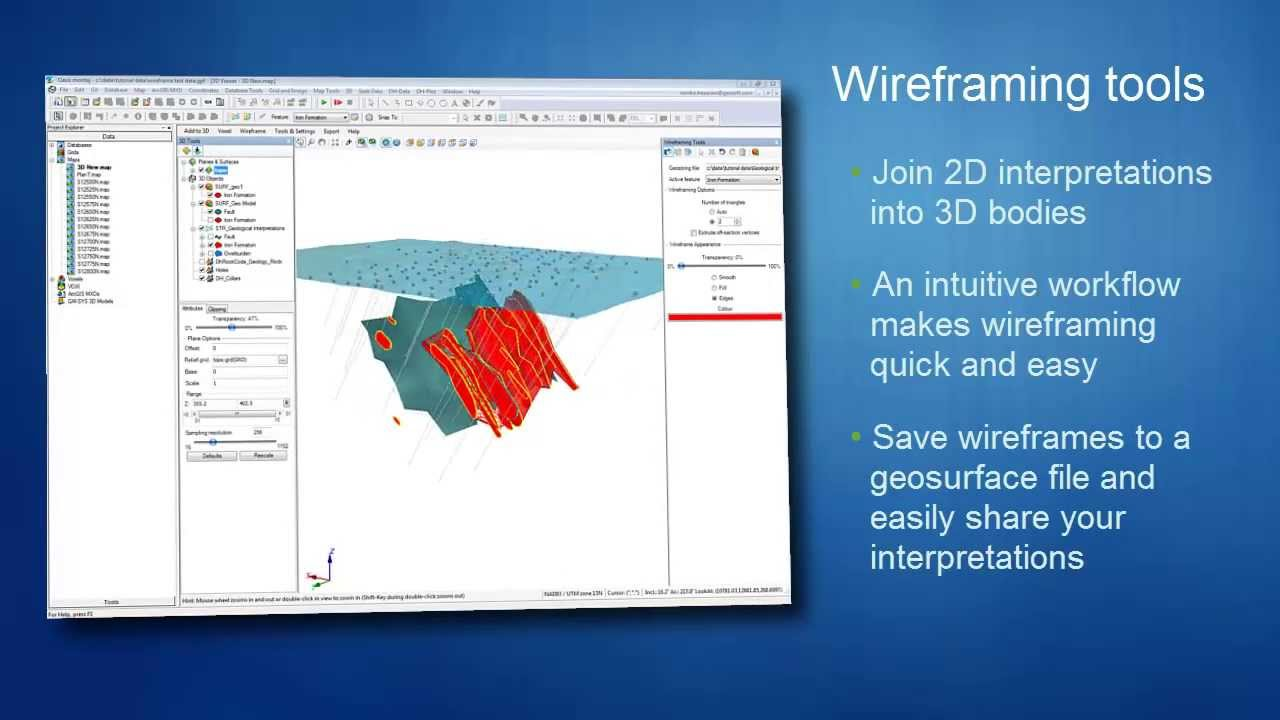 3D Geological Modelling: Digitizing and Wireframing in Oasis montaj ...