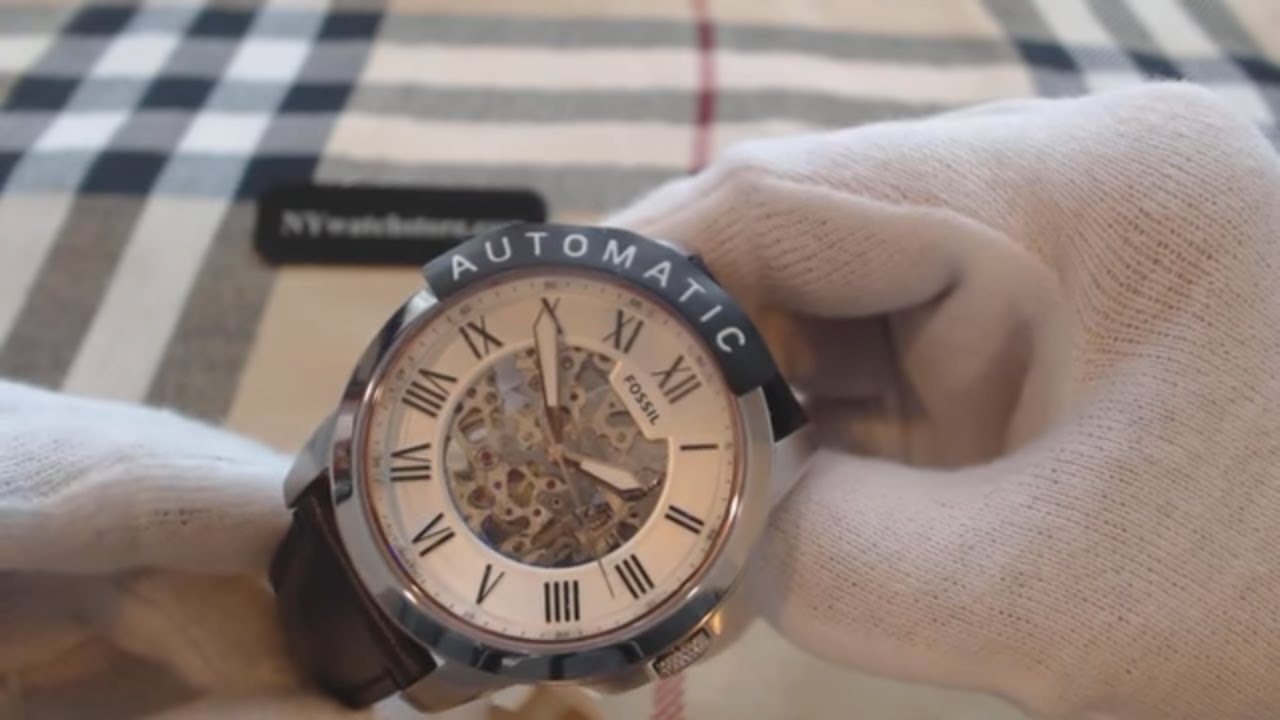 c0ed798f2dbd Men s Fossil Grant Automatic Skeleton Watch ME3101 - YouTube