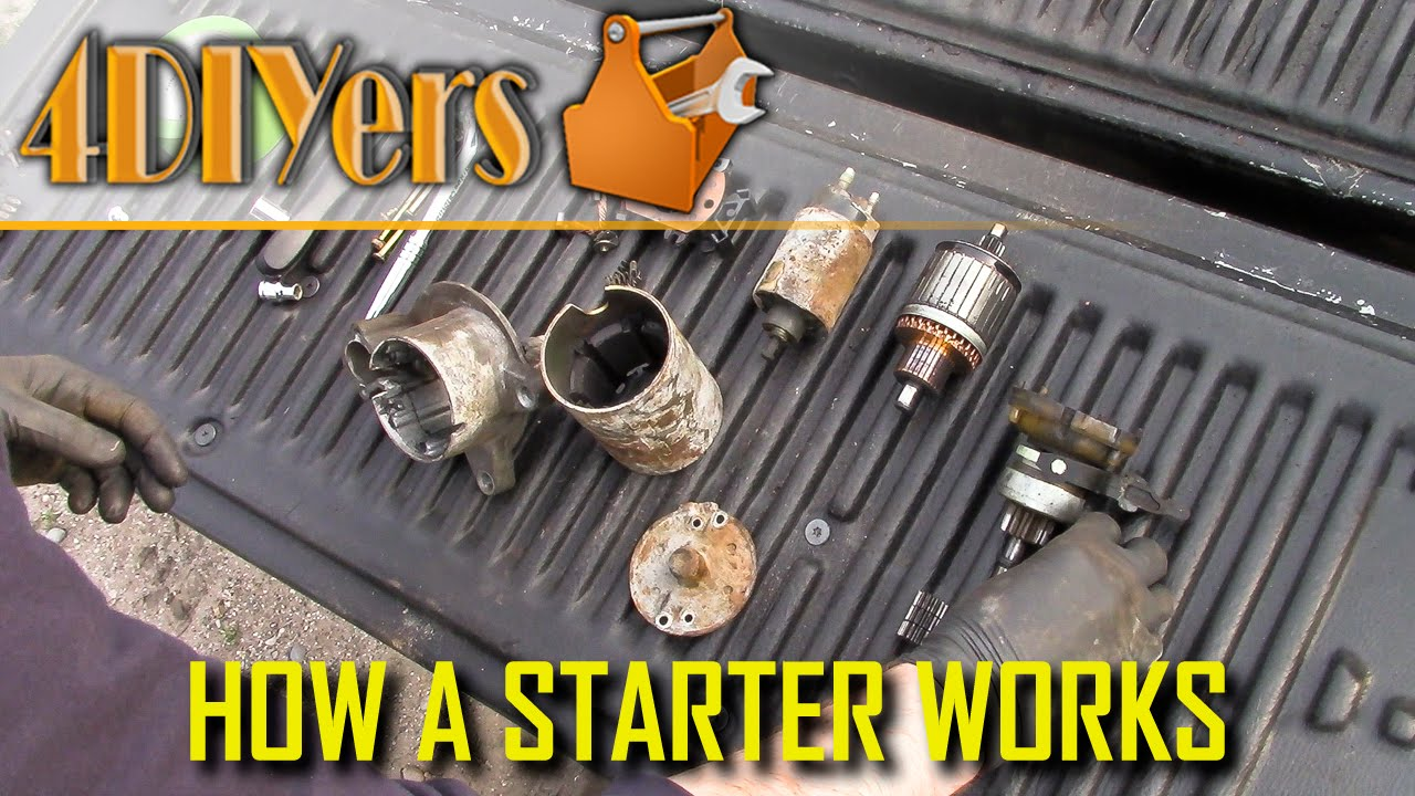 How A Starter Motor Works Youtube Ford Solenoid It Work