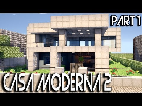 Tutorial casa moderna minecraft 2 1 youtube for Casas modernas minecraft faciles