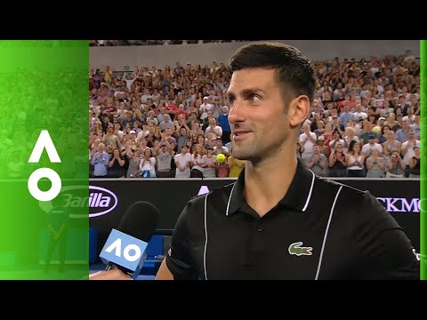 Novak Djokovic practises Aussie accent in on court interview | Australian Open 2018