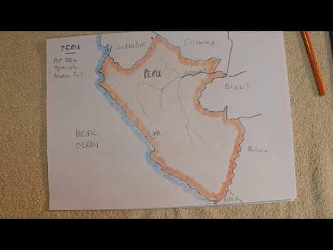 ASMR - Map Of Peru - Australian Accent - Describing In A Quiet Whisper (No Chewing Gum)