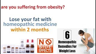 Weight Loss with Homeopathic 100% possible without side effects Explained!  [Latest Tips 2018]
