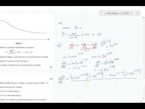 C3 Edexcel 2017 questions 8, 9