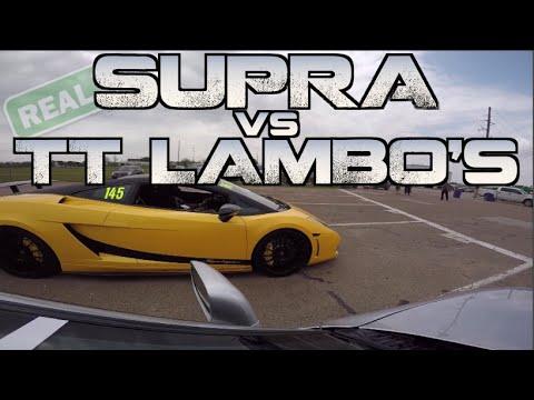 Real Street Supra takes down TWO 2000HP Lambos and more - TX2K15
