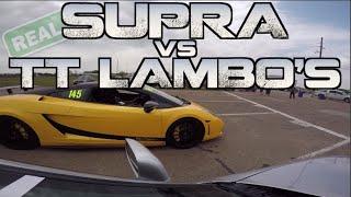 Real Street Supra takes down TWO 2000HP Lambos and more - TX2K15 thumbnail