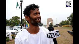 Rahul Jadhav Speaks to Ten News   Accomplished 20 days Run from Mumbai to Delhi : 1475 Kms