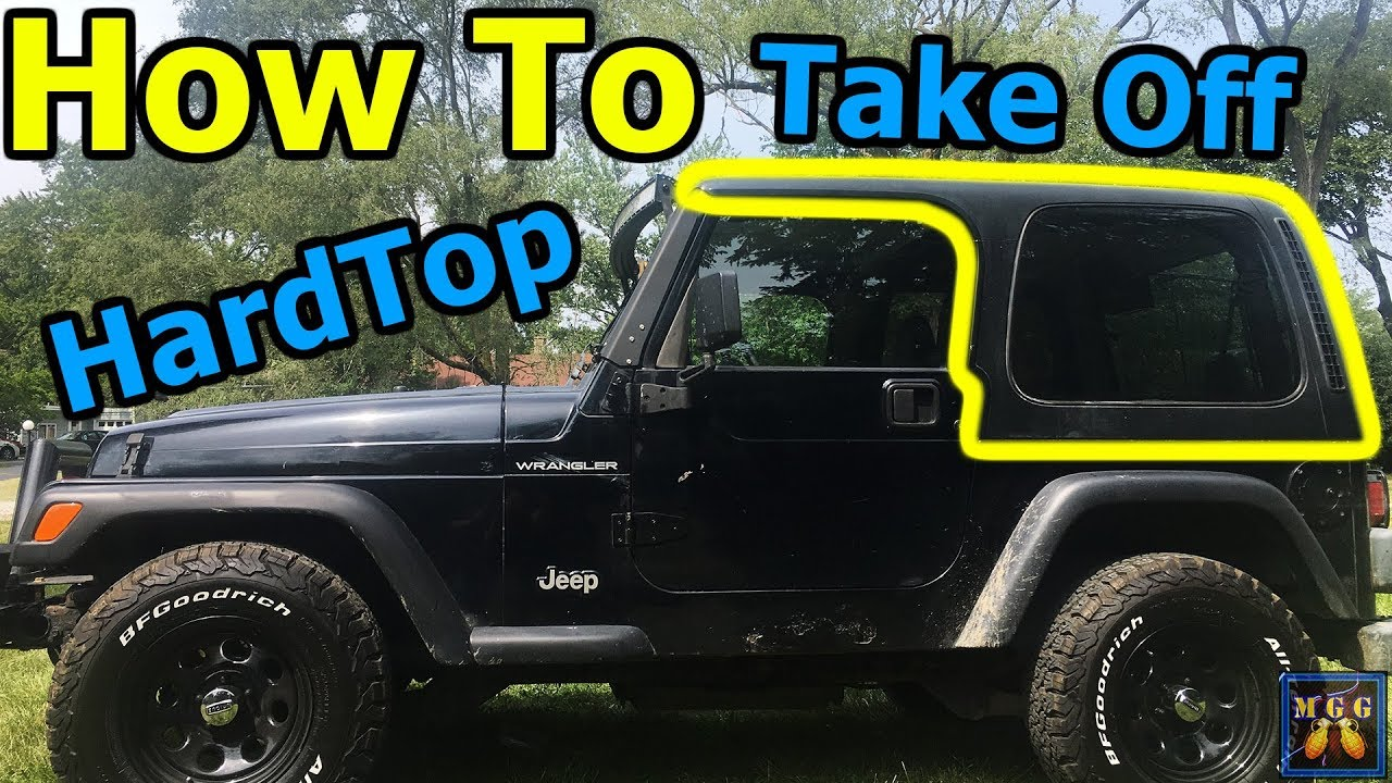 how to remove the hardtop on a jeep wrangler tj [ 1280 x 720 Pixel ]