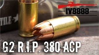 G2 R.I.P. .380 ACP Ammunition Test
