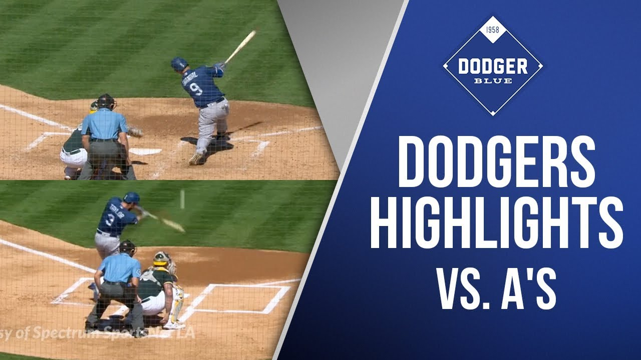 Dodgers highlights vs. A's
