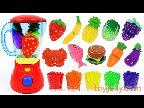 Learn Colors Toy Blender Playset Fruits Vegetables Food Velcro Toys Orbeez Nursery Rhymes for Kids