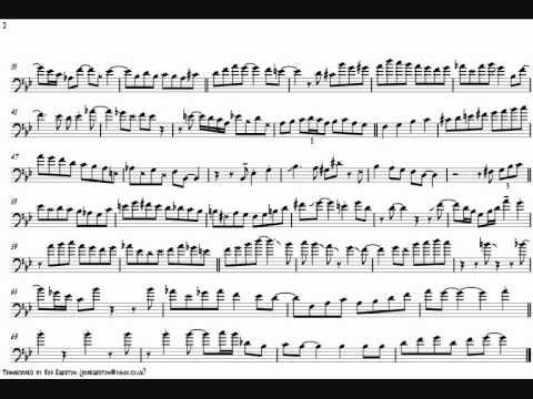 Mark Nightingale 'I Remember You' Trombone Solo Transcription