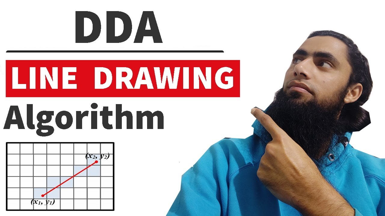 Dda Line Drawing Algorithm Explain Suitable Example : Dda line drawing algorithm program full concept easy