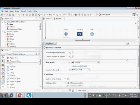 Brief Hands-on Introduction to Discrete Event Modeling and Patient Flow in AnyLogic