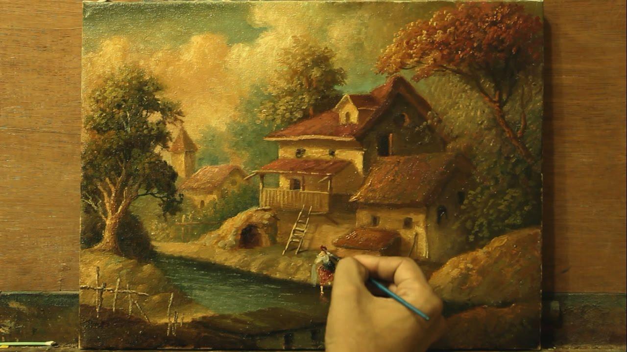 oil painting classic landscape