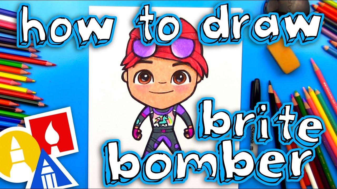 how to draw brite bomber from fortnite art for kids hub - art hub for kids fortnite skins