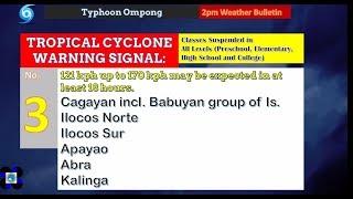 Weather Update- (As of 4pm, September 14, 2018) Bagyong Ompong [Super Typhoon Mangkhut]
