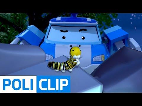 Poli is afraid of bugs | Robocar Poli Clips