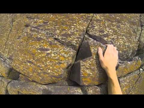 Climbing in Wales - Trad Lead on Red Wall in St Davids