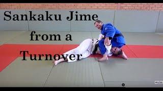 Sankaku jime from a turnover