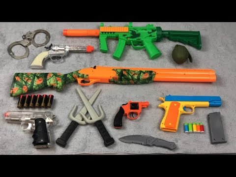 Toy Weapons ! Box Of Toys Army Military Toy Guns Realistic