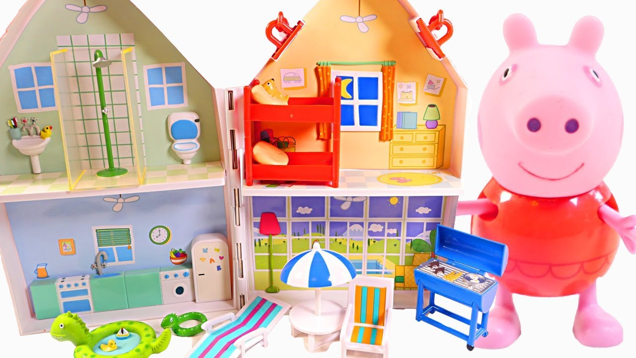 Niños Mejores Peppa For Para Videos Beach Pig House Fun iwPkXZuOT