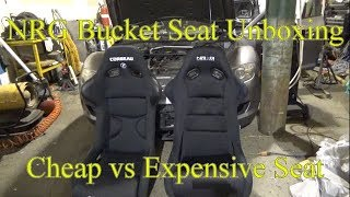Nrg Bucket Seat Unboxing: Comparison of budget seat vs expensive seat